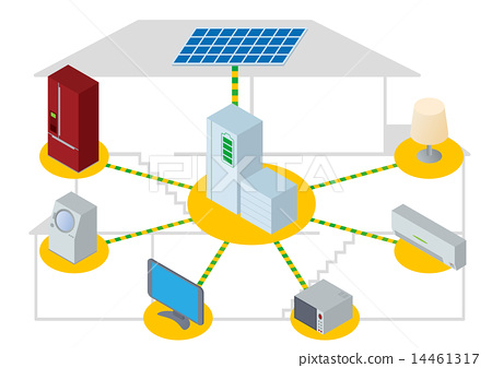 Household fuel cell image illustration - Stock Illustration