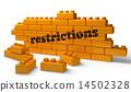 노란색, 벽돌, 단어 14502328