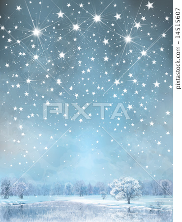 Stock Illustration: Vector winter background.