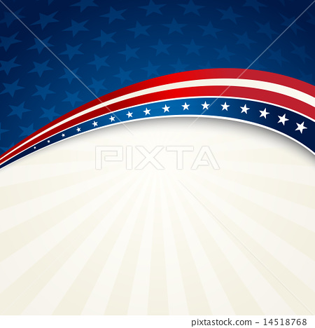 Stock Illustration: Independence Day patriotic background