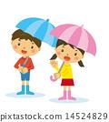 傘をさす子供 14524829