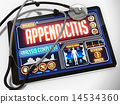 Appendicitis on the Display of Medical Tablet. 14534360