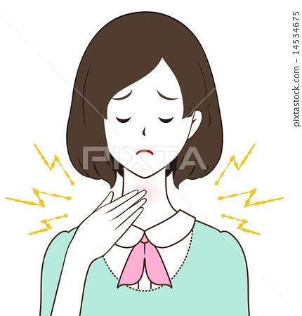 Female throat pain 14534675