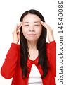 머리를 마사지하는 여자 14540089