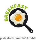 vector logo fried eggs for breakfast 14540569