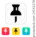 Mapping push pin icon. 14542276