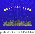 Total lunar eclipse urban landscape 1 14544442