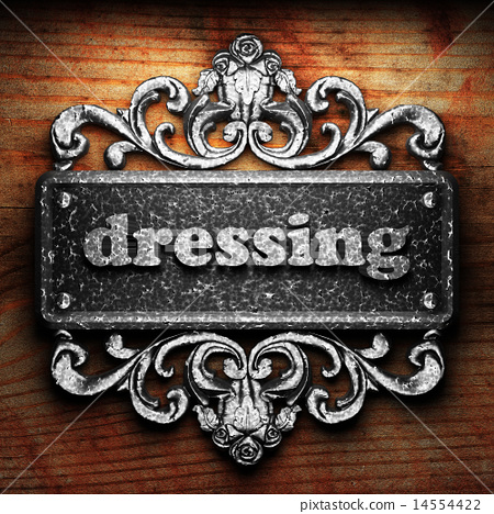 dressing word of iron on wooden background 14554422