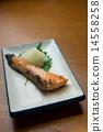 Salted salmon salmon 14558258