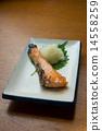 Salted salmon salmon 14558259