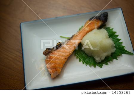 Salted salmon salmon 14558262