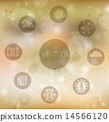 icons, weather, set 14566120