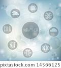 icons, weather, set 14566125