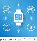 นาฬิกาสมาร์ท,นาฬิกาข้อมือ,ดู 14567133