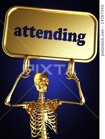 attending word and golden skeleton 14567349