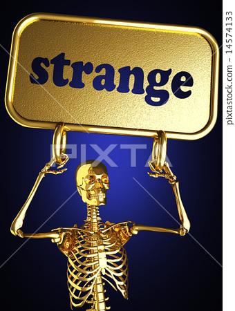 strange word and golden skeleton 14574133