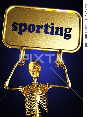 sporting word and golden skeleton 14575244