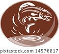trout retro fish 14576817