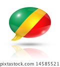 Republic of the Congo flag speech bubble 14585521