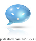 Micronesian flag speech bubble 14585533