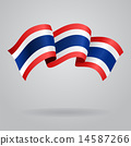 Thai waving Flag. Vector illustration 14587266
