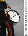 A drummer in a military band 14590424