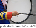 A drummer in a military band 14590429