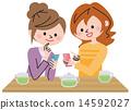 女人 女性 智能手机 14592027