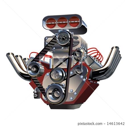 Vector Cartoon Turbo Engine 14613642