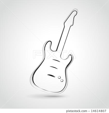 Vector guitar illustration - Stock Illustration  14614807  - PIXTA 4109ab8156e
