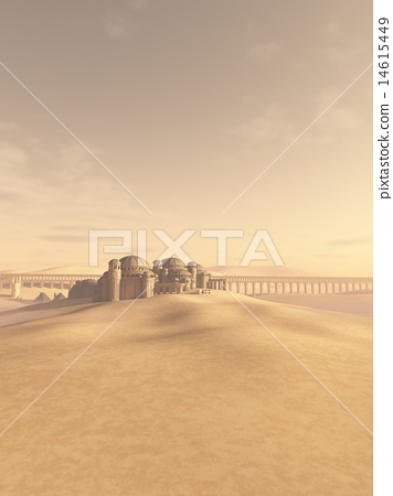 Desert Town Swallowed by the Sand 14615449
