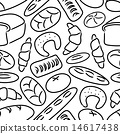 bakery products doodle seamless pattern eps10 14617438