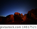 Red Desert Rocks under Blue Night Sky 14617521