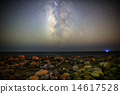 Milky Way Galaxy over Malibu Beach 14617528
