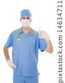 注射器 針筒 面具 14634711