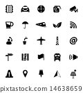 Map sign icons on white background 14638659