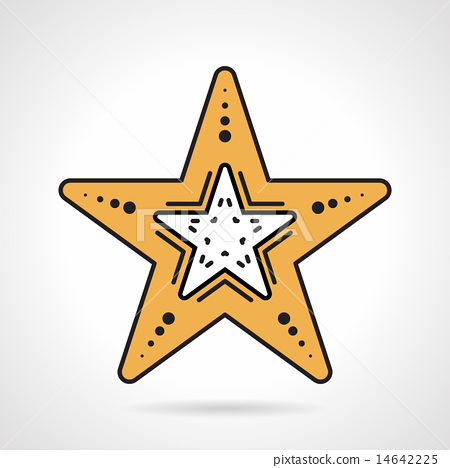 Starfish flat style vector icon 14642225