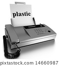 plastic word printed on fax 14660987