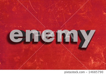 enemy word on red wall 14685790