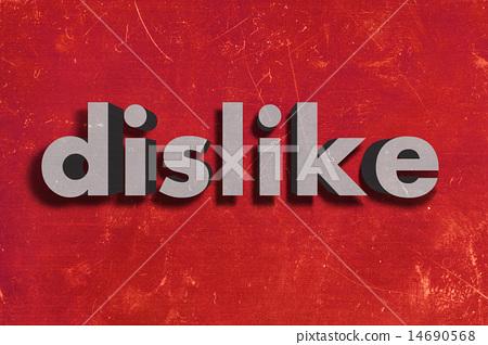 dislike word on red wall 14690568