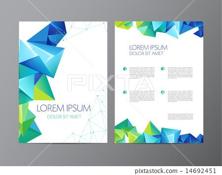 Abstract vector modern flyer brochure design templates 14692451