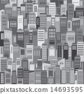 Buildings In The City Pattern Background 14693595