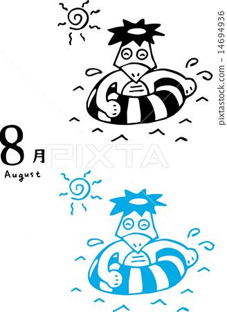 Calendar August 14694936