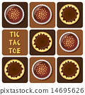 Tic-Tac-Toe of pudding and chocolate ball 14695626