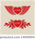 Heraldic volumetric hearts 14699004