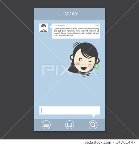 Mobile Chat Frames Message Boxes Sample Text 14701447