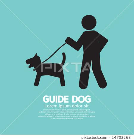 Guide Dog Graphic Symbol 14702268