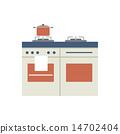 Modern Flat Design Pot On Stove 14702404