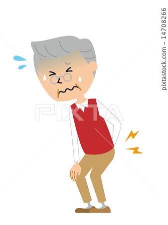 Senior male low back pain suddenly 14708266