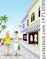 store street vector 14713080